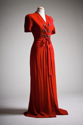 Aftonklänning i siden