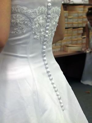 Bröllopsklänning med spets