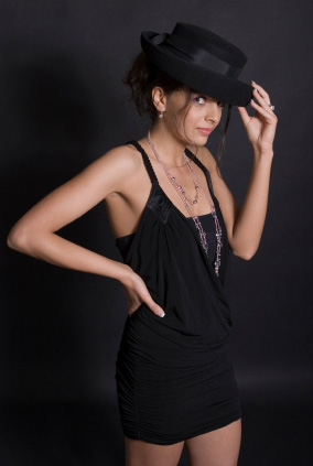 Liten svart klänning