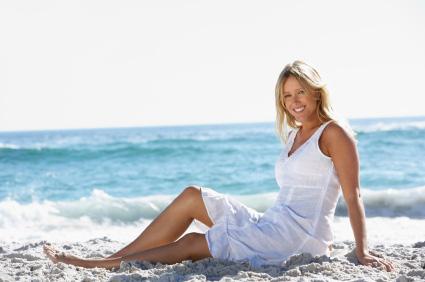 Vit strandklänning